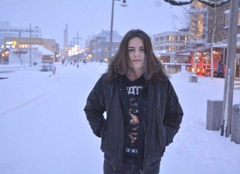 ISKALD - METALFEST: Marius Mathisen Grøtte (16) arrangerer igjen metalfestival i Alta. Åtte band er booket til en todagers metalfest for både de over og under 18 år. Alle foto: Erlend Hykkerud