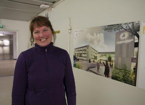GLEDER SEG: Ingrid Petrikke Olsen kunne mandag slippe jubelen løs. - Prsjektet nye Hammerfest sykehus er for godt til at styret kunne avlå.