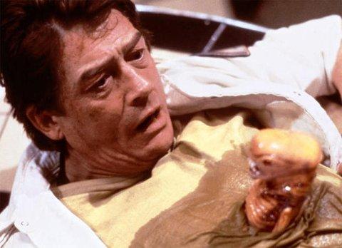 IKON: Ikonet John Hurt, her i en ikonisk scene fra Alien (1979).