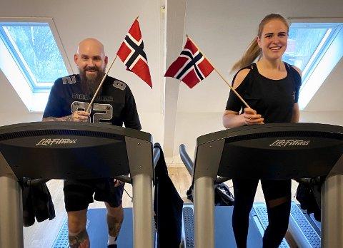 SPREKINGER: Elin Soma og Rune Håland ble feiret på treninggsenteret Club Athletic på Bryne da de nådde sine skrittmål i midten av november. De har engasjert og motivert de fleste medlemmer som trener der med sin iver og dedikasjon.