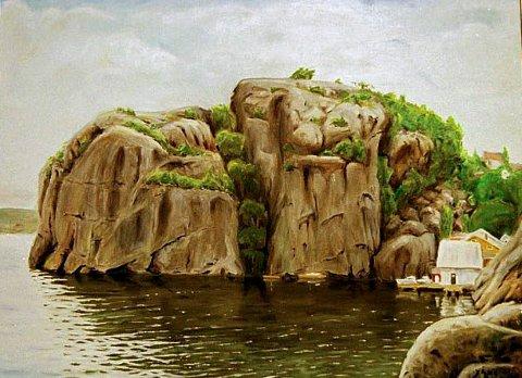 Maleri Yngve Åsen - Veten og Urene på Øya