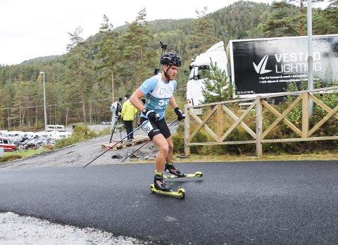 På bedringens vei: Steinar Valbø var ikke helt i form, men føltse seg bedre på søndagen. Her fra lørdagens sprint.