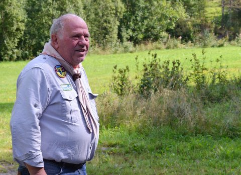 Steinar Brogeland i Kragerø speidergruppe håper på mange deltakere lørdag.