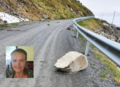 Siv Elvevoll (innfelt) i velforeningen på Myrland vil ikke ofre alt for å hente post på Storsandnes.