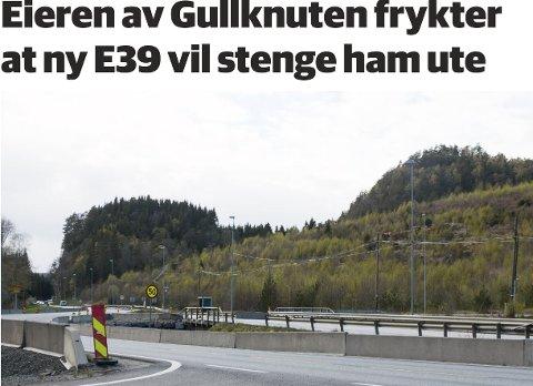 FAKSIMILE: Oppslaget i nettutgaven av Lyngdals Avis.