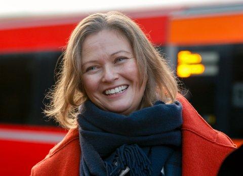 FORNØYD: Cathrine Elgin er glad for at Go-Ahead får kjøre tog som normalt igjen.