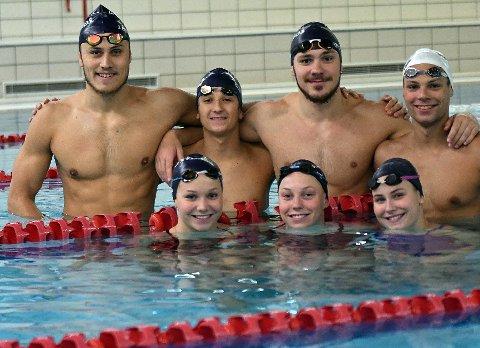 MEDALJEVINNERE: Jørgen Scheie Bråthen, Patrick Toth, Niksja Stojkovski, Jolann Bovey, Marte Løvberg, Sofie Reisænen og Melina Holtan tok alle medaljer.