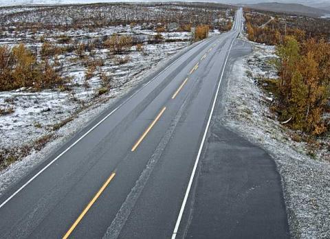 SNØ: Årets første snøfall?