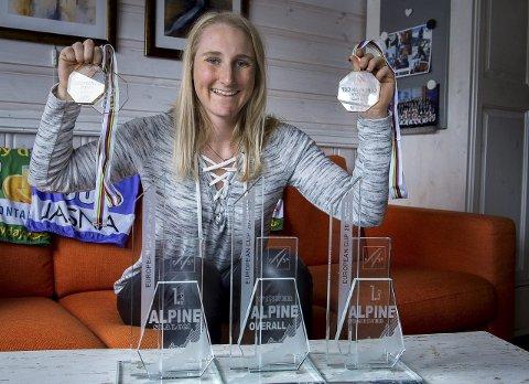 Jubelsesong: En småsjuk Maren Skjøld har fått tid til å reflektere litt over jubelsesongen når hun feriere påsken              hjemme på Gjøvik denne uka.