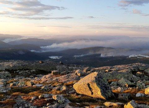 Det er svært tørt i hele Øst - Norge. Flere steder er det meldt om skogbrann. Bilde er fra Skammefjellet i Valle i Setesdal.