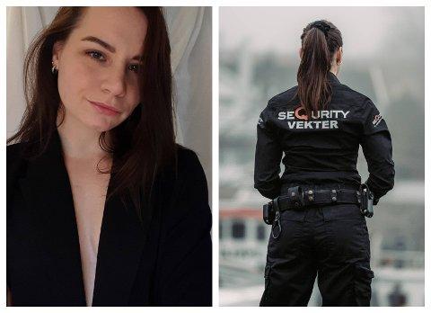 Susanne Erøy (26) fra Vestby ble ferdig med vekterutdannelse i august.