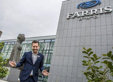 FORNØYD MED FJORÅRET: Til tross for at hotellstreiken i 2016 førte til store kanselleringer er direktør ved Farris bad, Andreas Nilsson, fornøyd med resultatene.