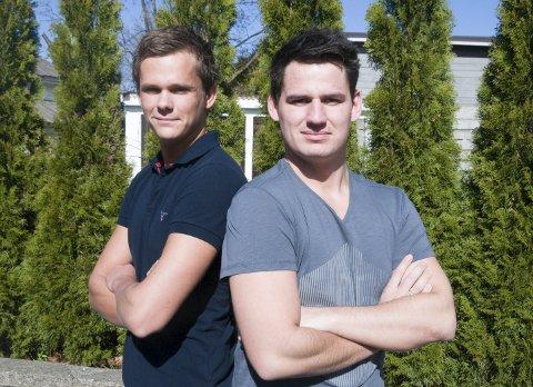 Mot hverandre: Alexander og Joachim Hvaal vil høyst trolig møtes som konkurrenter i banen neste år. Mens lillebror tar steget opp som Supercars-fører, er storebror forberedt på at kommende sesong er hans siste med full serie.Privatfoto