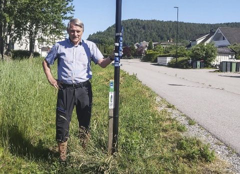 Alle kan bli med: Magne Klovning er ansvarlig for hvor stolpene skal utplasseres i Porsgrunn. Han har fokusert på at alle skal ha mulighet til å delta i jakten.