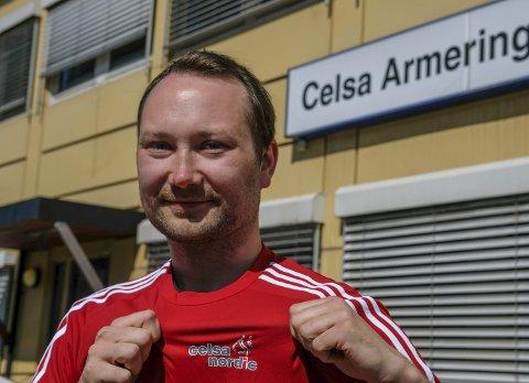 Tar den tøffeste etappen: 112 lag og 44 individuelle løpere har meldt seg på årets utgave av Celsastafetten. Det er Rolf-Arne Hanssen svært fornøyd med.
