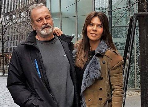 STØTTER HVERANDRE: Eirik Jensen og hans samboer Ragna Lise Vikre. Jensen ble nylig dømt til 21 års fengsel i lagmannsretten. Vikre savner mannen hvert minutt.