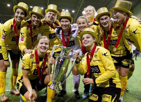 GULLGROSSIST: LSK-jentene har kunnet juble for tre seriegull på de fire siste sesongene. Med to cupgull i tillegg har LSK kvinner de siste årene blitt flaggskipet i norsk kvinnefotball. FOTO: NTB scanpix