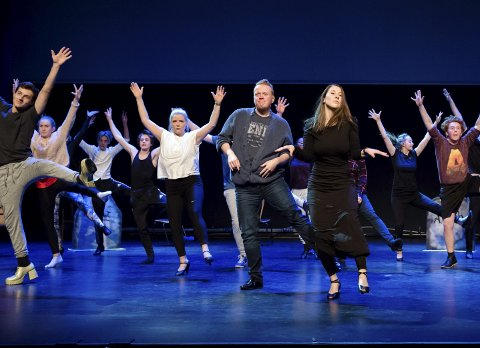 Levende døde: Neste år er det urpremiere på forestillingen «The Addams Family Musical», men allerede førstkommende mandag viser Ullensaker Teater en smakebit på Jessheim Storsenter. I fullt kostyme selvfølgelig. Alle Foto: Ken Ronny Thomassen