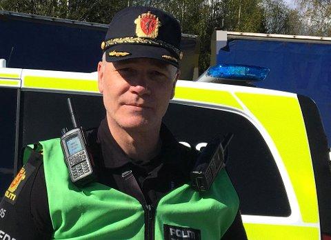 Politiets innsatsleder Dag Andre Sylju. FOTO: HELLE KARTERUD