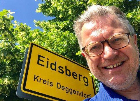 ORDFØRERFERIE: Ordfører i Edsberg kommune i Norge dro på en litt annerledes ordførerferie i år. Han dro til Eidsberg i Tyskland.