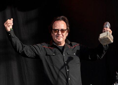 Bill Troiani - også kjent som Billy T - vant Bluesprisen torsdag under åpningen av Notodden Blues Festival. Foto: Harald Olsen