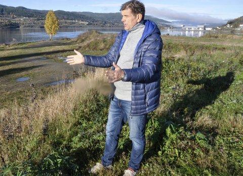 Byens perle: Daglig leder i Notodden borettslag, Rune Finnekåsa, ønsker å komme i gang med utbygging av boligprosjektet på Snika.