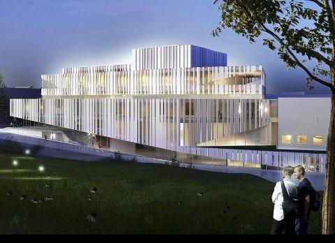Opera- og kulturhuset i Kristiansund. Tegning: C.F. Möller