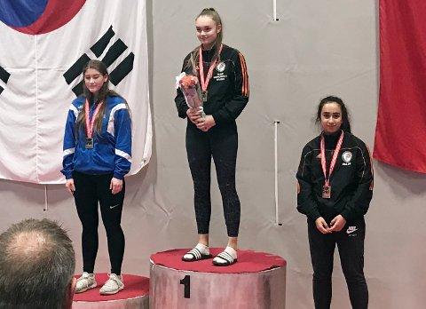 Gulljente: Mari Nilsen vant NM-gull for tredje år på rad.