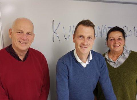 Kristofer Torkildsen, kultursjef Torolf E. Kroglund og Marita Thomseth var nylig i gang med forberedelsene til det som skal bi kulturnatta 2019.