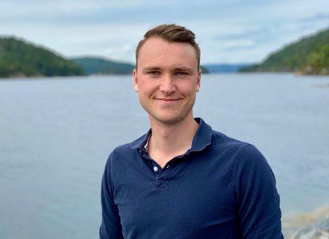 VALGKAMPMEDARBEIDER: Sindre Øvergård Næss ble politisk engasjert tidlig i studietiden.