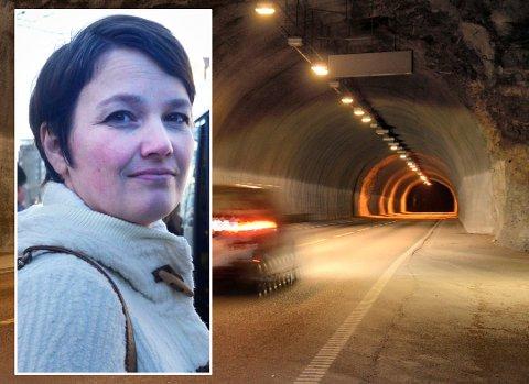 Distriktsleder Kari Vassbotn i Trygg Trafikk er rystet over råkjøringen som blant annet skjedde i Korgfjelltunnelen.