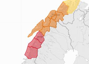 Det meldes torsdag om stor snøskredfare i Salten.