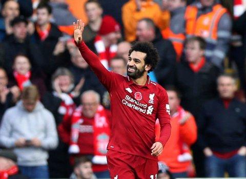 Mohamed Salah har scoret mesteparten av målene denne sesongen på Anfield. (Barrington Coombs/PA via AP)