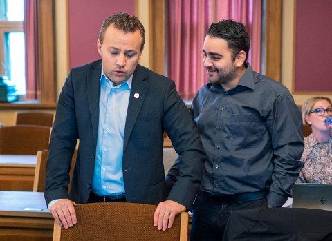 Lavrans Kierulf, Frp og Rutkay Sabri, Ap har et fundamentalt ulikt syn på ungdomskriminaliteten i Drammen.