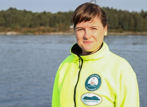 OVERRASKA: Hamnesjef Linda Mortensen Midtbø er ikkje særleg glad for at Hurtigruten no går Bodø-Kirkenes-Bodø.