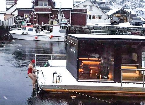 SISU: Utvikling av indre pågangsmot og kraft i flytande sauna i Kalvåg.