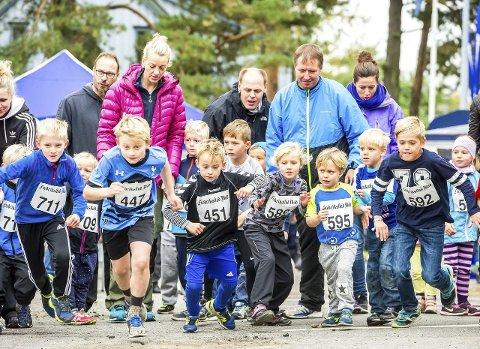 Barneløp: Det ble arrangert et eget barneløp etter at hovedløpet var i gang. Der var det mange raske barn.