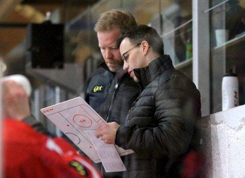 Fortsetter? Darren Treloar og Jörgen Wahlberg har begge vært positive til å fortsette på Stjernen-benken. (foto: Harry Johansson)