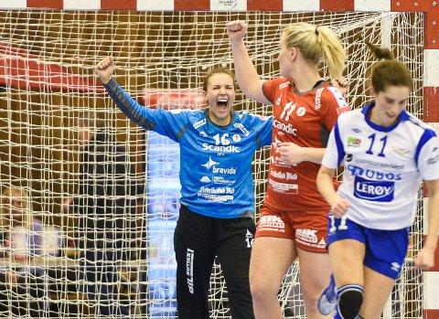 REDNINGSKVINNE: Jenny Sandgren drømmer om å spille med det svenske flagget på brystet. Denne helgen skal hun derimolt stoppe Molde. Foto: Kent Inge  Olsen