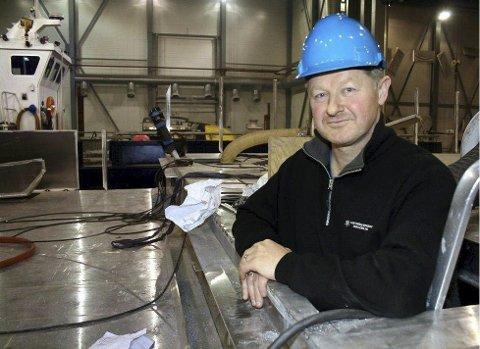 Fornøyd: Daglig leder ved Grovfjord Mekaniske Verksted, Bård Meek-Hansen, er strålende fornøyd med å ha fått i land seks nye kontrakter med en samlet verdi på over 80 millioner kroner. Arkivfoto