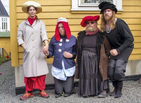 MunchInspirert: Norsk-amerikanerne laget sin versjon av Munchs fire piker i Åsgårdstrand.