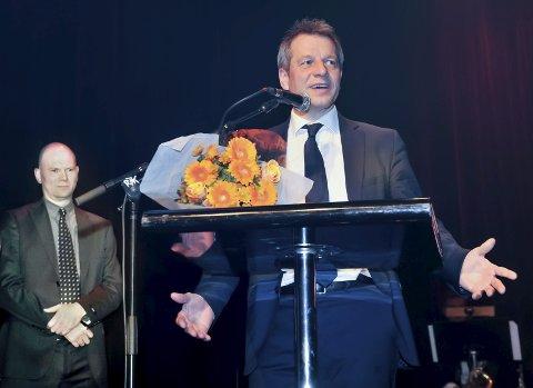 OPP: Sparebanken Hedmark, 7sterke og Glåmdalen inviterer til temamøte; her ved Trond Hagerud (t.h.) og Thor Sørum-Johansen. Foto: Jens Haugen