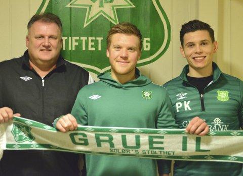 Sjefene: Johnny Lysgård (t.v), Espen Fjeld og Per Kristian Wenstad skal styre Grue-skuta i 2019.