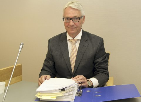 BOSTYRER: Advokat Geir Langhelle la fram sin innberetning etter konkursen i Mjøselement AS i Glåmdal tingrett tirsdag.FOTO: ROLF NORDBERG (ARKIV)
