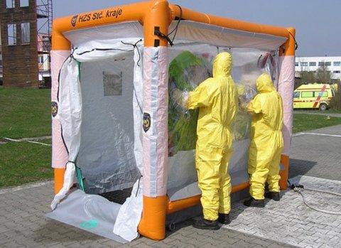 TEST: Slik ser ett av teltene ut som Årnes-firmaet nå tilbyr.