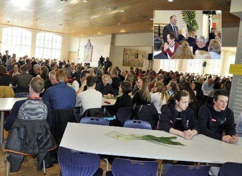 Flere hundre elever fra yrkesfaglinjer over hele landet er på plass i Lillehammer, hvor de ble ønsket velkommen av stortingspresident Olemic Thommessen og ordfører Espen Granberg Johnsen.