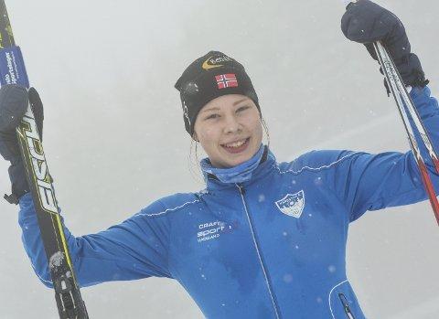 GLEDER SEG: Anna Heggen fra Harestua har jublet etter mange skirenn i sin korte karriere. Nå gleder hun seg til sesongens første renn på Hadeland.