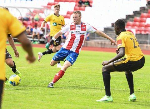 Fabian Stensrud Ness Kvik scoret 1-1 målet mot Fram.