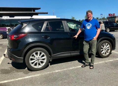 EGEN BIL: Halvannen uke etter at Geir Adelsten Iversen fikk feil på sin Mazda, fikk han den torsdag tilbake.