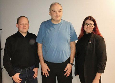 TOPP 3: Jon Atle Birkeland (i midten), Monique Jørgenseb nog Asgeir Eliassen er topp 3 på Hammerfest Høyres liste til kommunevalget til høsten.